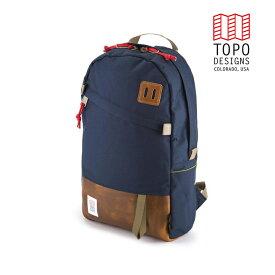 TOPO DESIGNS トポデザイン Daypack デイパック Navy/Leather ネイビー/レザー Backpack バックパック アウトドア カジュアル パソコン収納 リュック メンズ レディース