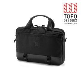 TOPO DESIGNS トポデザイン Commuter Briefcase コミューターブリーフケース Ballistic Black/Black Leather バリスティックブラック/ブラックレザー 通勤用 バッグ 3WAY