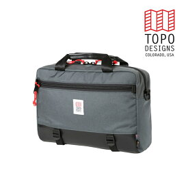 TOPO DESIGNS トポデザイン Commuter Briefcase コミューターブリーフケース Charcoal/Black Leather チャコール/ブラックレザー 通勤用 バッグ 3WAY