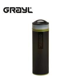 グレイル GRAYL UL コンパクト ピュリファイヤー 浄水ボトル 浄水器 473ml ブラック アウトドア 海外旅行 給水 水 水筒