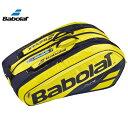 2019 バボラ(Babolat) ピュアアエロ 12 ラケットバッグ Babolat Pure Aero 12 Racket Bag ラケットホルダー/ラ…