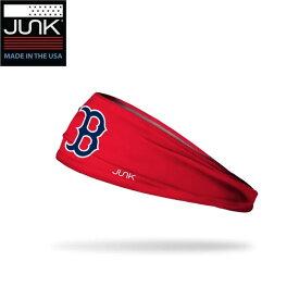 アメリカ発 【ネコポス送料無料】 ヘッドバンド Junk Bland ジャンク ブランド ボストンレッドソックス Bロゴ レッド 赤 MLB 選手愛用 野球