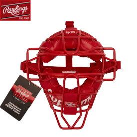 送料無料 【海外限定】ローリングス シュプリーム コラボ キャッチャーマスク 硬式用 野球 Supreme/Rawlings Catcher's Mask レッド