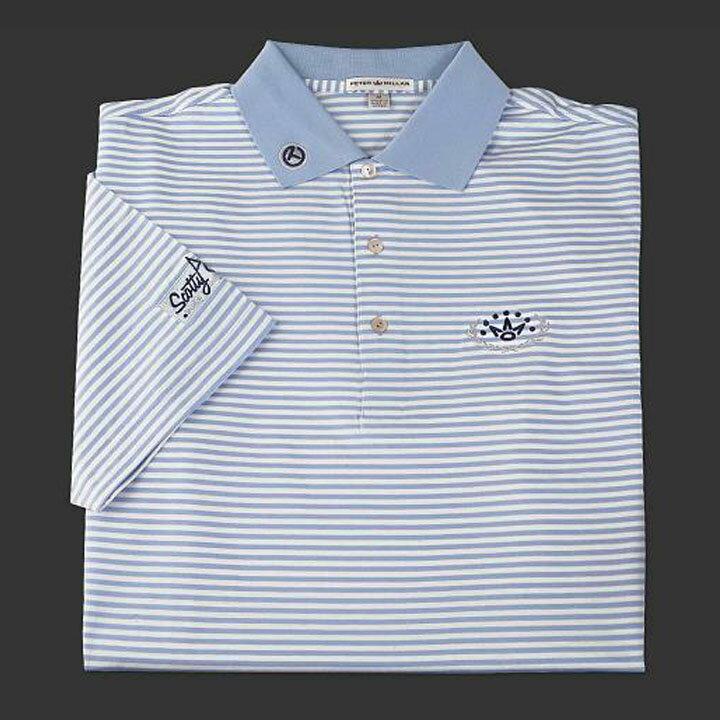 スコッティーキャメロン ポロシャツScotty Cameron「Laurel Crown - Blue and White Stripe」Polo ポロ