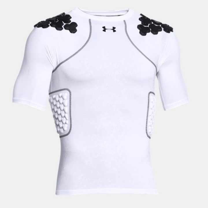 アンダーアーマー UNDER ARMOUR メンズ用 Gameday Armour Top (White/Black/Black) アメリカンフットボール アメフト インナーシャツ プロテクター