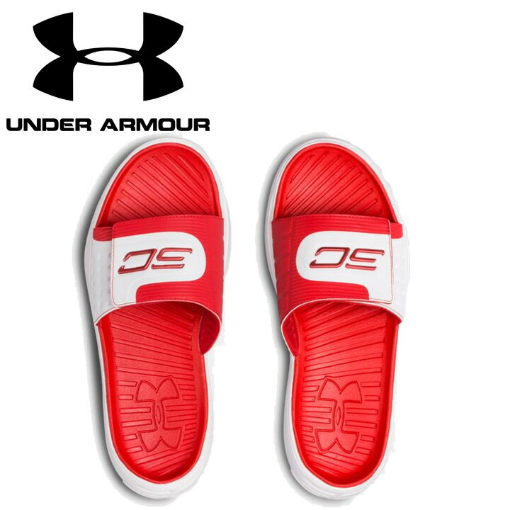 UNDER ARMOUR アンダーアーマーUA M Curry IV SL アンダーアーマーサンダル Red/White 赤/白 メンズ 靴・サンダル