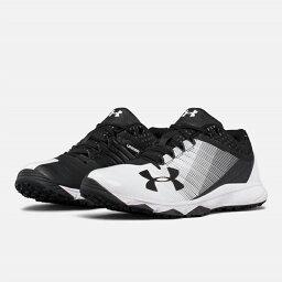 UNDER ARMOUR andaama棒球訓練鞋Black/white黑色/白UA Yard Low Trainer調車場低教導員人鞋toreshu