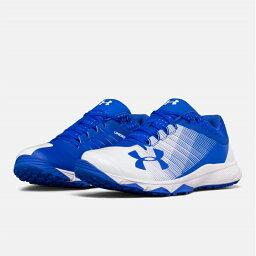 UNDER ARMOUR andaama棒球訓練鞋Blue/white藍色/白UA Yard Low Trainer調車場低教導員人鞋toreshu