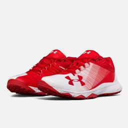 UNDER ARMOUR andaama棒球訓練鞋Red/white紅/白UA Yard Low Trainer調車場低教導員人鞋toreshu