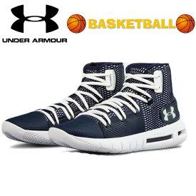 アンダーアーマー Under Armour UA HOVR Havoc ホバー ハボック Navy 紺色バッシュ バスケットボール スニーカー メンズ
