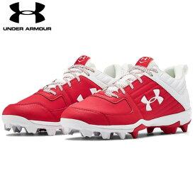 送料無料【USA物】 アンダーアーマー 野球 ポイント スパイク メンズ UNDER ARMOUR Men's UA Leadoff Low RM 靴 シューズ ベースボール 赤/白 レッド ホワイト