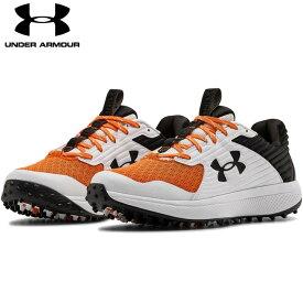 【送料無料】 UNDER ARMOUR アンダーアーマー 野球 トレーニングシューズ UA Yard Turf ヤード ターフ メンズ 靴 トレシュブラック/ホワイト/オレンジ