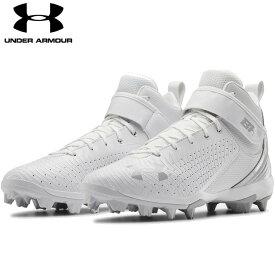 送料無料【USA物】 アンダーアーマー 野球 ポイント スパイク メンズ UNDER ARMOUR Harper 5 Mid RM ブライス・ハーパー 選手モデル 靴 シューズ ベースボール 白 ホワイト ミッド
