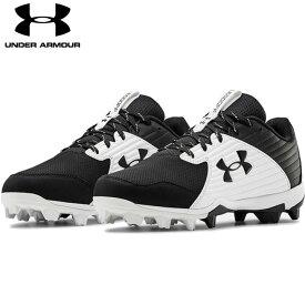 送料無料【USA物】 アンダーアーマー 野球 ポイント スパイク メンズ UNDER ARMOUR Men's UA Leadoff Low RM 靴 シューズ ベースボール 黒/白 ブラック ホワイト