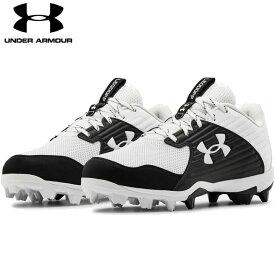 送料無料【USA物】 アンダーアーマー 野球 ポイント スパイク メンズ UNDER ARMOUR Men's UA Leadoff Low RM 靴 シューズ ベースボール 白/黒 ホワイト/ブラック
