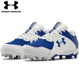 送料無料【USA物】 アンダーアーマー 野球 ポイント スパイク メンズ UNDER ARMOUR Men's UA Leadoff Low RM 靴 シューズ ベースボール 青/白 ブルー /ホワイト
