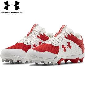 送料無料【USA物】 アンダーアーマー 野球 ポイント スパイク メンズ UNDER ARMOUR Men's UA Leadoff Low RM 靴 シューズ ベースボール 赤/白 レッド/ホワイト