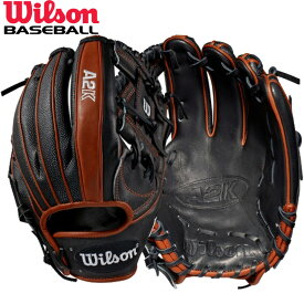 送料無料 【USA物】ウィルソン DUAL 野球 硬式 内野手用 グローブ グラブ A2K シリーズ Wilson 軟式使用可能 右投げ用 Hウェブ スーパースキン ブラック/レッド