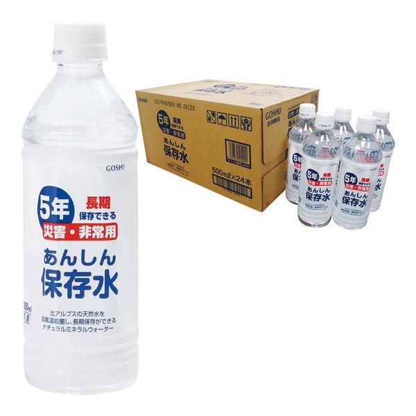 あんしん保存水 500mL 1ケース24本入 [キャンセル・変更・返品不可][代引不可][同梱不可][ラッピング不可][海外発送不可]