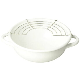 ブランキッチン ホーロー 天ぷら鍋 20cm オール熱源対応 (HB-3677) [キャンセル・変更・返品不可]