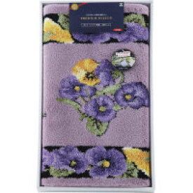 日本製ウィルトン織 洗える玄関マット(110×60cm) パープル (71942) [キャンセル・変更・返品不可]