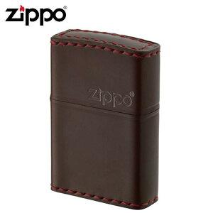 ZIPPO(ジッポー) オイルライター CC-5革巻き 横ロゴ コードバン チョコ