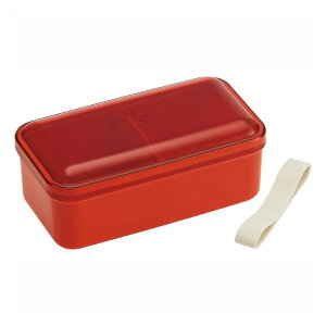 pos.374975 おかずのっけ弁当箱 レトロフレンチ オレンジレッド SLLB6