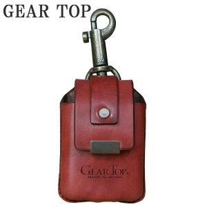GEAR TOP オイルライター専用 革ケース キーホルダー付 GT-213 RD