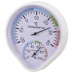 OHM 温湿度計 快適表示付き 壁掛けタイプ TEM-500-W