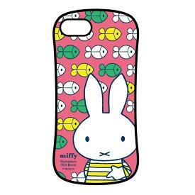 ミッフィー しましま iPhone8/7/6s/6対応ハイブリッドガラスケース ピンク MF-29PK