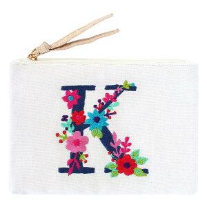 刺繍ポーチ アルファベット K 16819000167