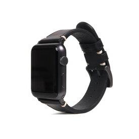 SLG Design(エスエルジーデザイン) Apple Watch バンド 38mm/40mm用 Italian Buttero Leather ブラック SD18387AW