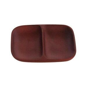 かのりゅう Luonto(ルウォント) 木製食器 チョコブラウン ランチワンプレート L17-4-9s [ラッピング不可][代引不可][同梱不可]