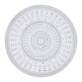 全円分度器 12cm型 1-822-0000