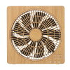 Box fan natural Wood (woodgraining) BF-T1812NW [cancellation, change, returned goods impossibility] mounted with a DC motor