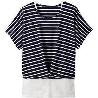 像重疊穿着一樣的套衫襯衫深藍邊緣M[取消、變更、退貨不可]