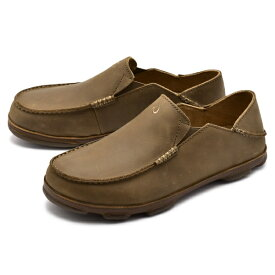 [オルカイ] S) 10128 スリッポン モロア MOLOA ハワイ ブランド シンプル シューズ 靴 全2色 メンズ [キャンセル・変更・返品不可]