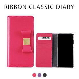 [iPhone XS/X] [本革] Ribbon Classic Diary (リボンクラシックダイアリー) [キャンセル・変更・返品不可]
