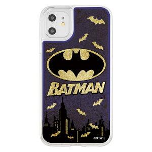 iPhone11/XR/バットマン/ラメグリッターケース/バットマンロゴ [キャンセル・変更・返品不可]