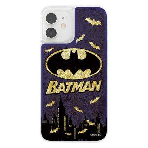 iPhone12mini/バットマン/ラメグリッターケース/バットマンロゴ [キャンセル・変更・返品不可]