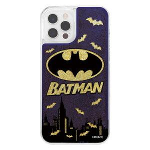 iPhone12/12Pro/バットマン/ラメグリッターケース/バットマンロゴ [キャンセル・変更・返品不可]