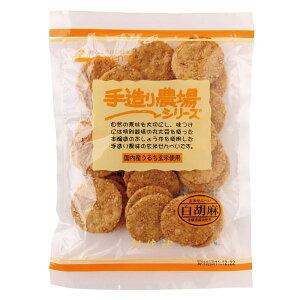 手造り農場白胡麻玄米せん 100g 単品 [キャンセル・変更・返品不可]