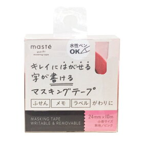 [マークス] 水性ペンで書けるマスキングテープ/小巻24mm幅/ピンク [キャンセル・変更・返品不可]