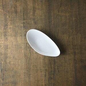 小田陶器 shell(シェル) 18cmムール 中皿(長皿) 白 [キャンセル・変更・返品不可]