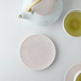 深山(miyama.) casane te-かさね茶器- 茶たく(小皿) 小桜柄・桃釉 [キャンセル・変更・返品不可]