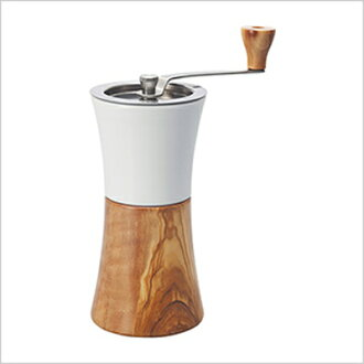 Ceramic hand mill and wood coffee grinder combination