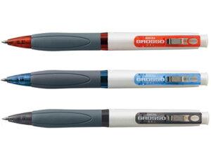 ノック式ゲルインキボールペン グロッソ [黒] 0.5mm オレンジ