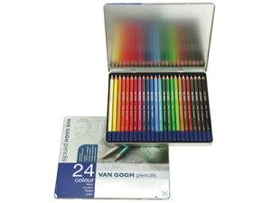 サクラ 色鉛筆 / ヴァンゴッホ色鉛筆 24色セット(メタルケース入り)(T9773-0024)【SAKURA 筆記具 事務用品 デザイン おしゃれ】