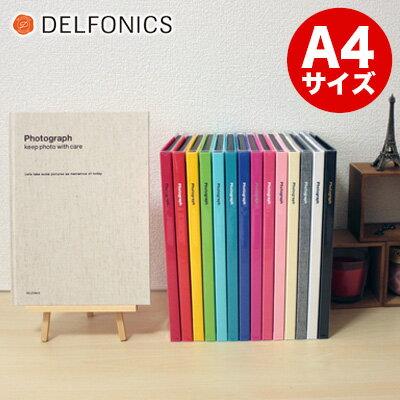 デルフォニックスDELFONICS/PDフォトアルバムベーシックA4(粘着台紙10枚)(PD08)