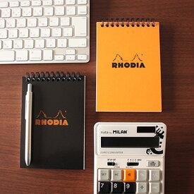 【メール便可 2冊まで】ロディア RHODIA / ノートパッド A6サイズ (オレンジ・5mm方眼)(cf13500)【メモ帳 リングノート デザイン おしゃれ】